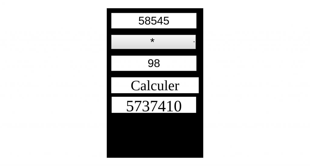 Calculatrice basique